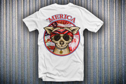 The Brown Dog Series - Merica Tee
