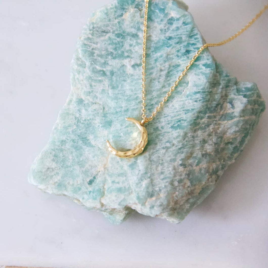 Hammered Moon Necklace