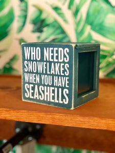 Snowflake Sea Shell Box Holder
