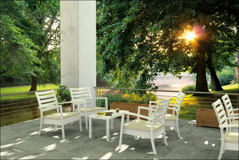 Compamia Artemis XL Club Seating Set 7 Piece White ISP004S7-WHI