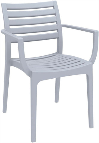Compamia Artemis Outdoor Dining Arm Chair Silver Gray ISP011-SIL