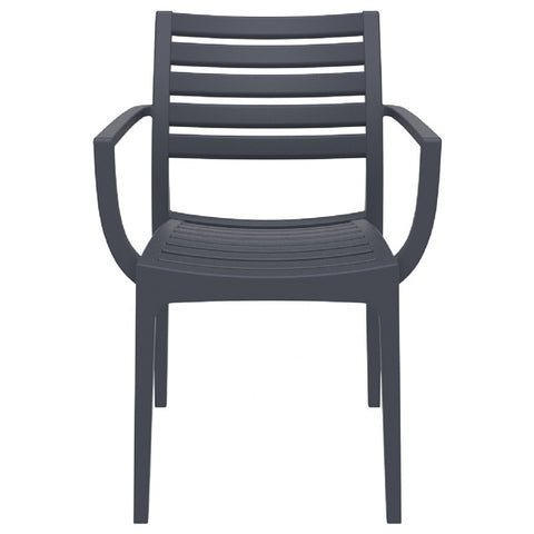 Compamia Artemis Outdoor Dining Arm Chair Dark Gray ISP011-DGR