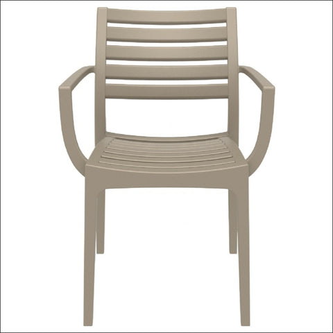 Compamia Artemis Outdoor Dining Arm Chair Dove Gray ISP011-DVR