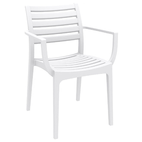 Compamia Artemis Outdoor Dining Arm Chair White ISP011-WHI