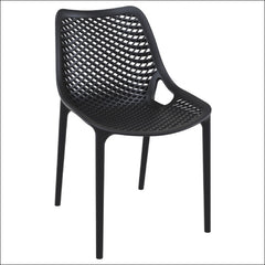 Compamia Air Outdoor Dining Chair Black ISP014-BLA - YourBarStoolStore + Chairs, Tables and Outdoor  - 1