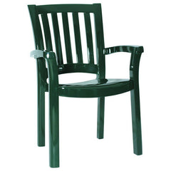 Compamia Sunshine Resin Dining Arm Chair Green ISP015-GRE - YourBarStoolStore + Chairs, Tables and Outdoor  - 1