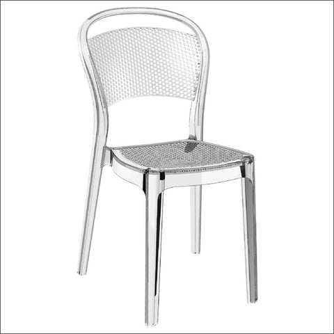 Compamia Bee Polycarbonate Dining Chair Transparent Clear ISP021-TCL