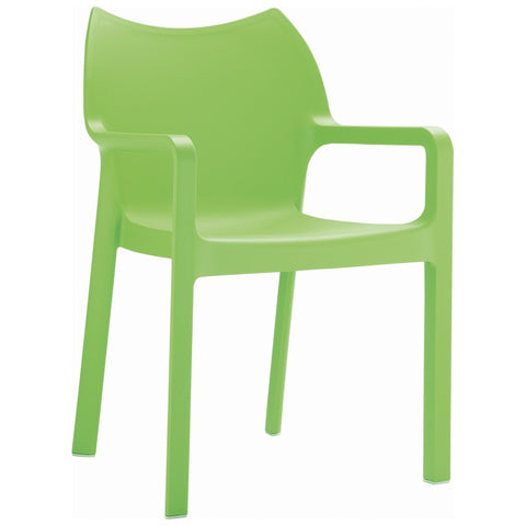 Compamia Diva Resin Outdoor Dining Arm Chair Tropical Green ISP028-TRG