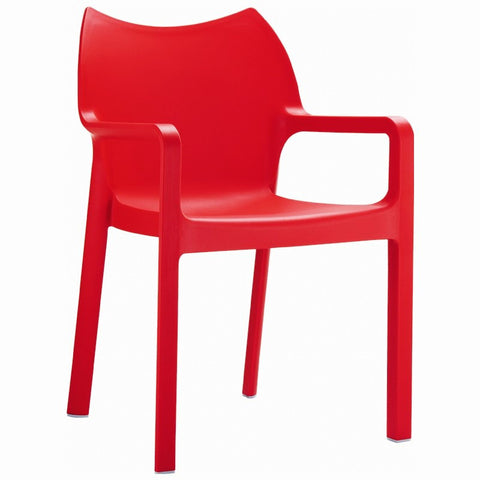 Compamia Diva Resin Outdoor Dining Arm Chair Red ISP028-RED