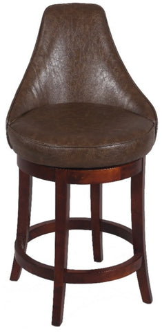 "Chintaly 26"" Swivel Solid Birch Counter Stool Brown 0290-CS"