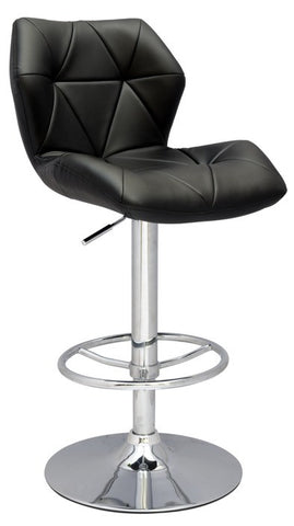 Chintaly Pneumatic Gas Lift Height Swivel Stool Black Pu 0310-AS