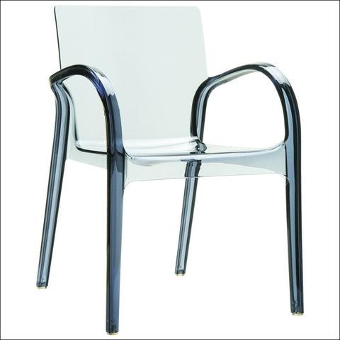 Compamia Dejavu Polycarbonate Arm Chair Transparent Gray ISP032-TGRY
