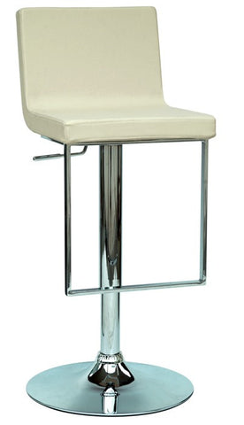 Chintaly Pneumatic Gas Lift Adjustable Height Swivel Stool Cream Pu 0351-AS-CRM
