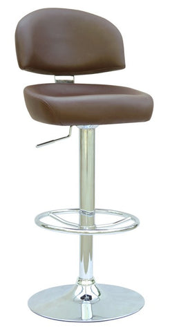 Chintaly Pneumatic Gas Lift Adjustable Height Swivel Stool Brown Pu 0362-AS-BRW