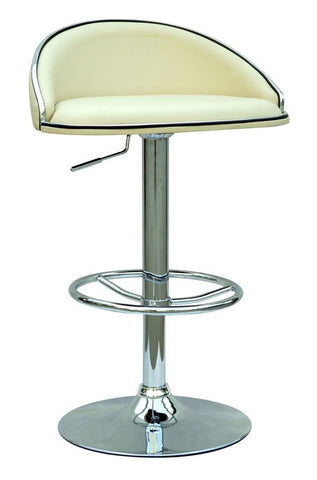 Chintaly Pneumatic Gas Lift Adjustable Height Swivel Stool Cream Pu 0388-AS-CRM
