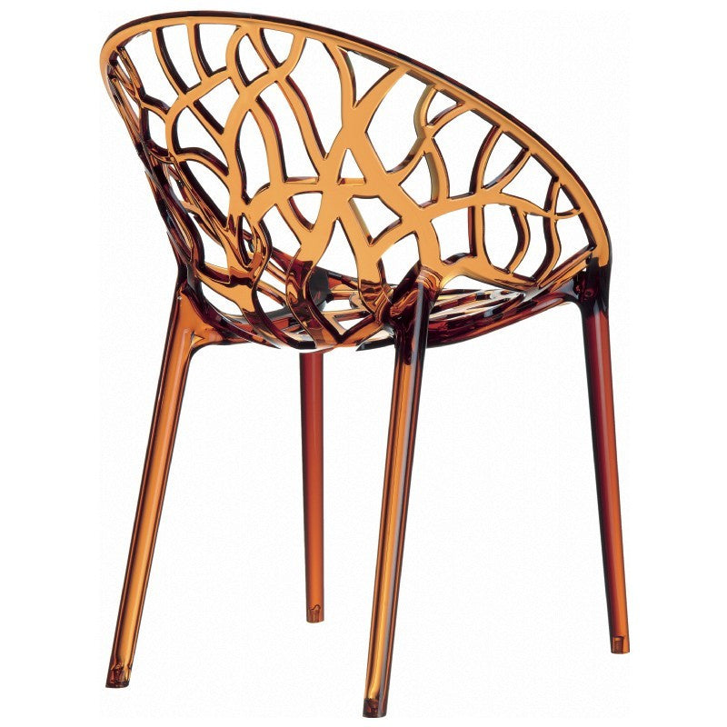 Compamia Crystal Polycarbonate Modern Dining Chair Transparent Amber  ISP052 TAMB   YourBarStoolStore + Chairs, ...