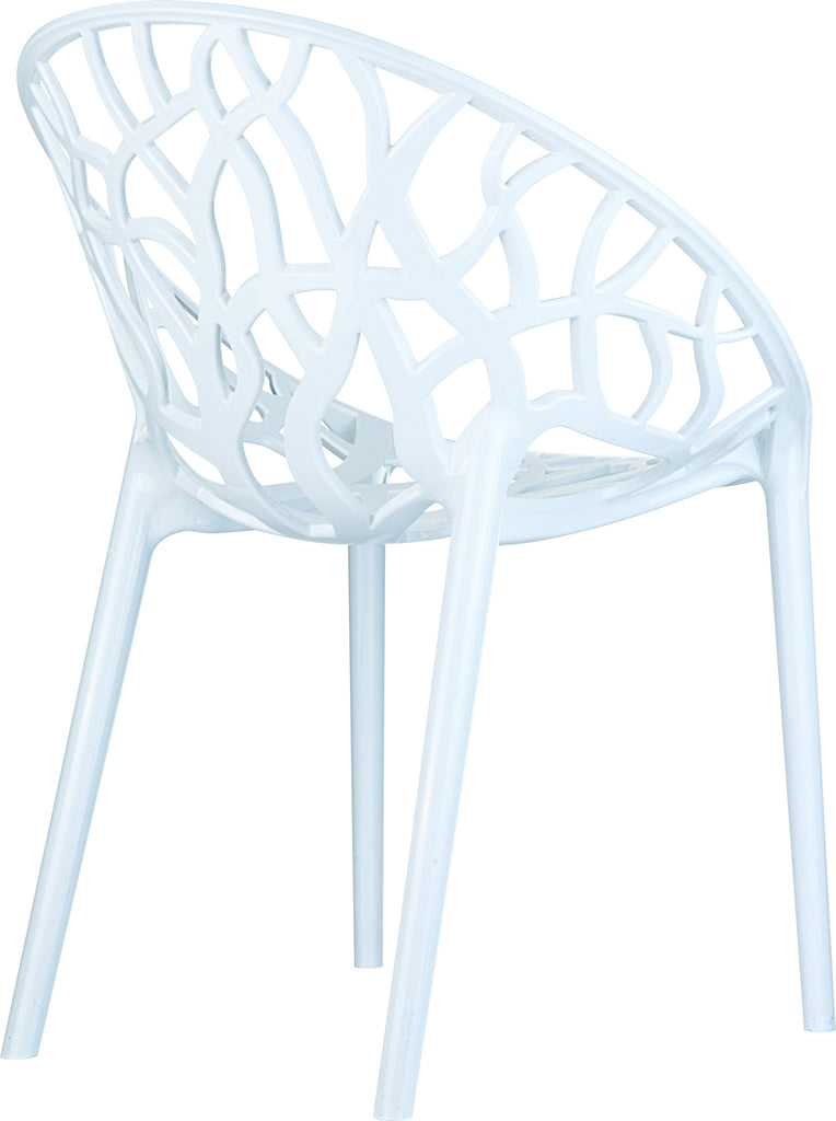 Compamia Crystal Polycarbonate Modern Dining Chair Glossy White ISP052 GWHI
