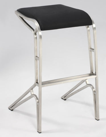 Chintaly Backless Contemporary PU Bar Stool