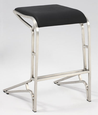 Chintaly Backless Contemporary PU Counter Stool