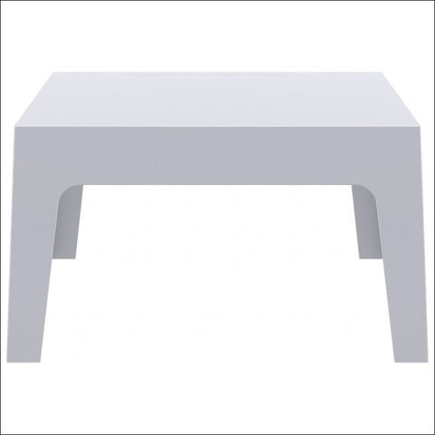 Compamia Box Resin Outdoor Center Table Silver Gray ISP064-SIL
