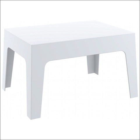 Compamia Box Resin Outdoor Center Table White ISP064-WHI