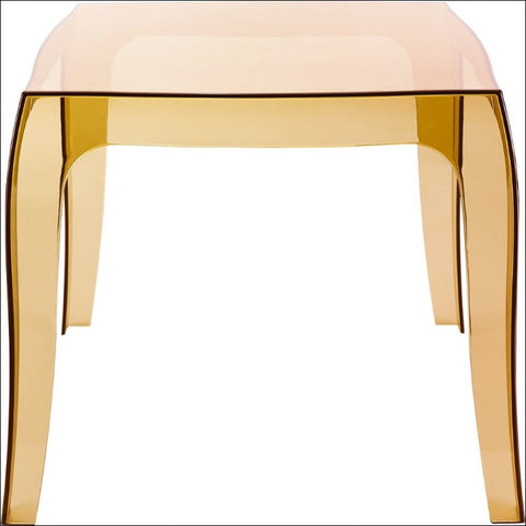 Compamia Queen Polycarbonate Side Table Transparent Amber ISP065-TAMB