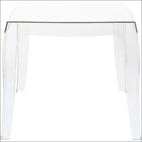 Compamia Queen Polycarbonate Side Table Transparent Clear ISP065-TCL