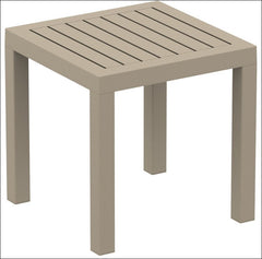 Compamia Ocean Square Resin Side Table Dove Gray ISP066-DVR - YourBarStoolStore + Chairs, Tables and Outdoor  - 1