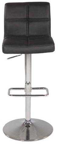 Chintaly Pneumatic Gas Lift Swivel Height Stool Black Pu 0665-AS-BLK