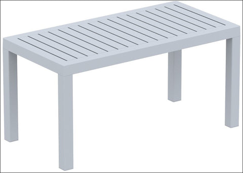 Compamia Ocean Rectangle Cofee Table Silver Gray ISP069-SIL