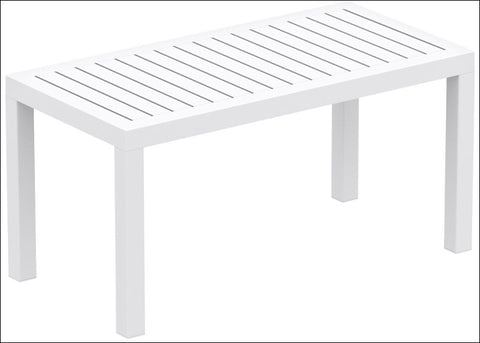 Compamia Ocean Rectangle Cofee Table White ISP069-WHI