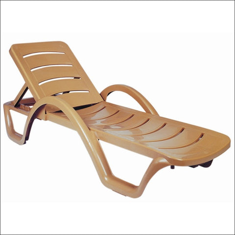 Compamia Sunrise Pool Chaise Lounge Teak Brown ISP078-TEA