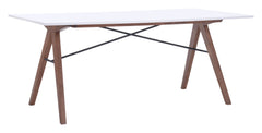 Saints Dining Table - Walnut & White