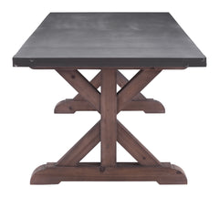 Durham Dining Table - Gray & Distressed Fir