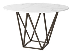 Tintern Dining Table - Stone & Antique Brass