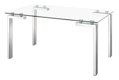 Roca Dining Table - Polished Steel