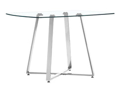 Lemon Drop Dining Table - Chrome