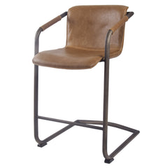 Indy PU Leather Counter Stool - Antique Cigar Brown