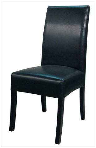 Valencia BONDED Leather Chair, Black