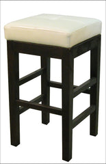 Valencia Backless Leather Counter Stool, Beige - YourBarStoolStore + Chairs, Tables and Outdoor