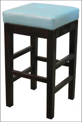 Valencia Backless Leather Counter Stool, Blue - YourBarStoolStore + Chairs, Tables and Outdoor