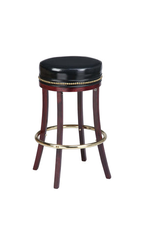 "Regal Seating 24"" Beechwood Backless Stool With Head-To-Head Nail Trim 1108hh"