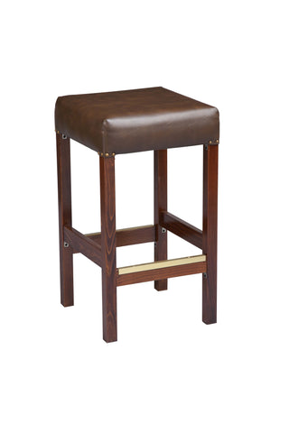 "Regal Seating 24"" Beechwood Square Backless Stool-Fully Upholstered Seat With Nail Trim 1110fus"