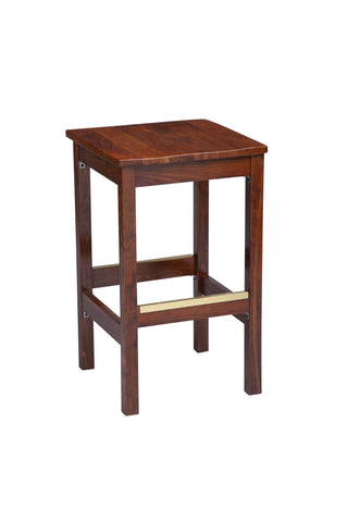 "Regal Seating 24"" Beechwood Square Backless Stool-Wood Seat 1110w"