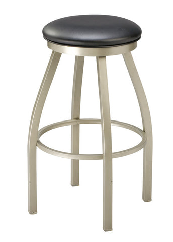 "Regal Seating 24"" Steel Backless Stool, Upholstered Seat With Rim 1117"