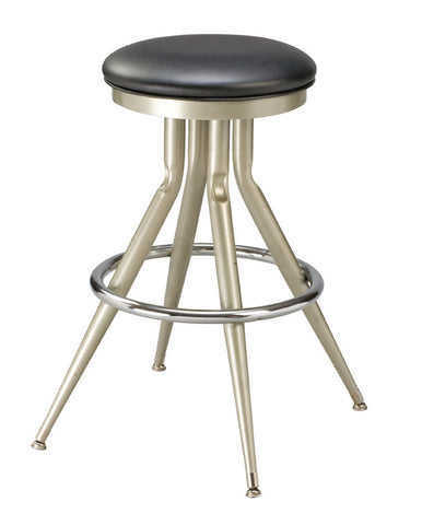 "Regal Seating 24"" Steel Backless Spread Frame Stool-Upholstered Seat 1145"