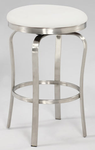 Chintaly Modern Backless Counter Stool White Pu 1193-CS-WHT