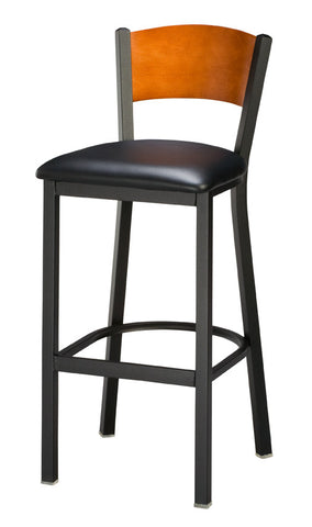 "Regal Seating 24"" Steel Slot Back Stool - Full Back 1316-fb"