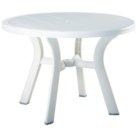 Compamia Truva Resin Round Dining Table 42 inch White ISP146-WHI