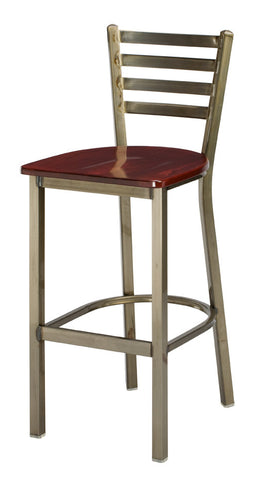 "Regal Seating 30"" Steel Ladder Back Stool 1516"